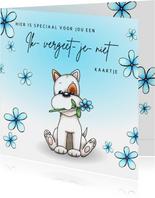 Zomaar kaart ik vergeet je niet kaartje met hond