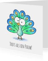 Zomaar kaart kleine pauw - Trots als een pauw