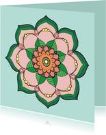 Zomaar kaart - Mandala