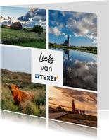Zomaar kaart met collage van foto's van Texel