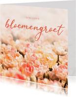 Zomaar kaart oranje tulpen lieve bloemengroet