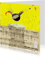 Zomaar kaart vogel en ei