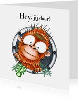 Zomaar kaarten hey, jij daar! oerang oetang