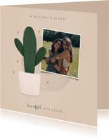 Zomaar kaartje ik wou dat ik je een knuffel kon geven cactus