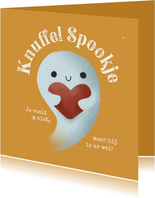 Zomaar kaartje - Knuffel Spookje met hartje