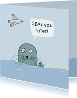 Zomaar kaartje SEAL you later!