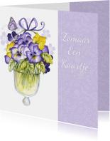 Zomaar met lieve viooltjes