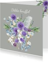 Zomaar paarse bloemen