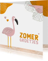 Zomaar - zomerse groetjes flamingo