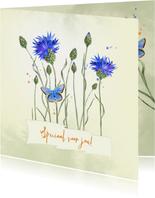 Zomaarkaart korenbmoemen met vlinder