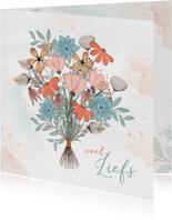 Zomaarkaart met kleurig boeket bloemen