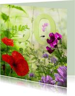 Zomerbloemen met 50