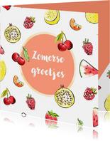 Zomerse groetjes tropisch fruit
