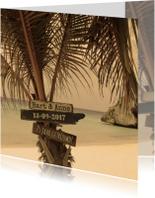 Zomerse jubileum kaart strand