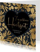 Zur goldenen Hochzeit Glückwunschkarte Herz