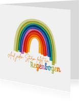 Zuversichtskarte Sturm und Regenbogen