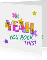 Zuversichtskarte 'Yeah'