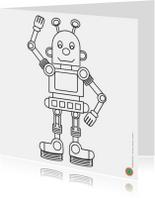 Zwaaiende robot wil kleur