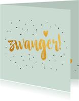 Zwager - gold felicitatie kaart