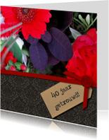 Zwart structuur label foto bloem