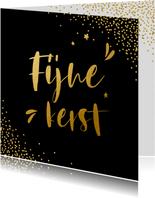 Zwarte zakelijke kerstkaart met goudlook letters