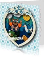 Geslaagd kaarten - Zwemdiploma - Kinderkaart