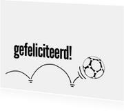 12025 Felicitatiekaart Voetbal