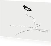 12035 Condoleancekaart Vlinder