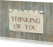 12049 Sterkte kaart Thinking of you