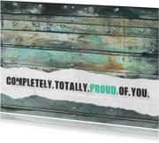 13123 Geslaagd kaart Proud of you