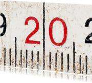 20 op oude witte duimstok