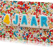 4 JAAR van suikerletters