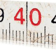 40 op oude witte duimstok