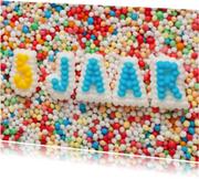 5 JAAR van suikerletters