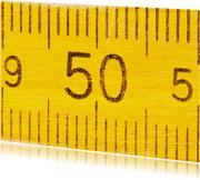 Verjaardagskaarten - 50 jaar op gele duimstok