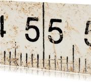 55 op oude witte duimstok