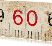 60 op oude witte duimstok