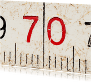 70 op oude witte duimstok