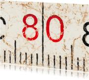 80 op oude witte duimstok