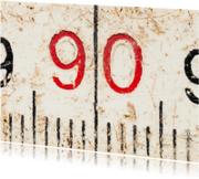 90 op oude witte duimstok