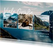 Ansichtskarte Urlaub vier Fotos