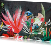 Antraciet & bloemen schildering