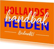 Bedankkaart handbal helden
