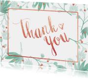 Bedankkaart trouwen botanical