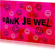 Bedankkaartje smile IW