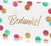 Bedankkaartje vrolijke confetti