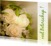 Beterschap Witte rozen ansicht