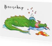 Beterschapskaart zieke zielige krokodil