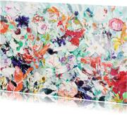 Bloemen zomerse tuin schilderij
