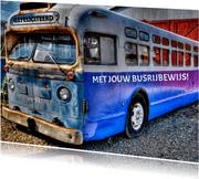 Busrijbewijs felicitatie kaart